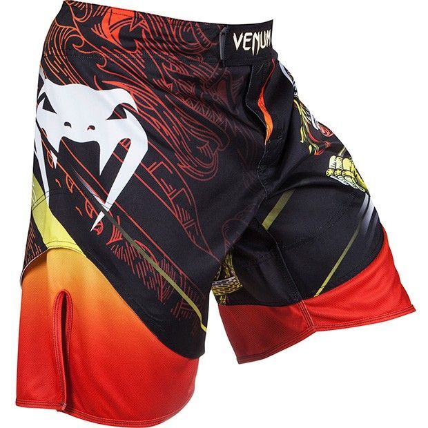"Шорты ММА Venum Lyoto Machida ""Tatsu King"" Fightshorts - Black/Orange"