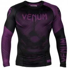 Рашгард Venum NoGi 2.0 Black/Purple L/S