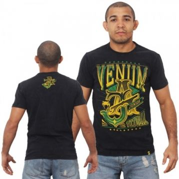 "Футболка Venum ""Jose Aldo Vitoria"" T-shirt - Black/Green"