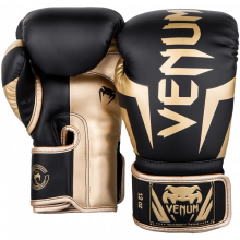 Перчатки Venum Elite Black/Gold