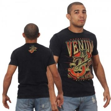 "Футболка Venum ""Jose Aldo Vitoria"" T-shirt - Black/Orange"