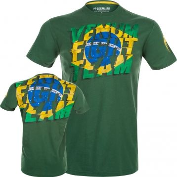 Футболка Venum Brazilian Flag T-Shirt - Green
